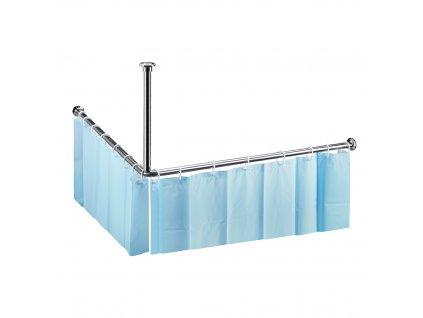 Bemeta Tyč sprchového závesu rohová, 900x900 mm - LESK (Veľkosť 1400 mm)