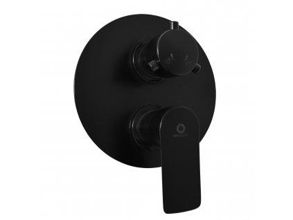 Slezák-Rav Vodovodná batéria vaňová/sprchová vstavaná VLTAVA čierna matná (Farba Čierna / Zlatá)