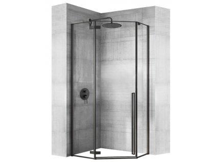 Rea Sprchový box DIAMOND Čierna (Farba Čierna, Veľkosť 80 x 80 cm)