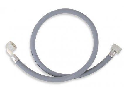 Novaservis Práčková napúšťacia hadica s kolenom 100 cm šedá (Veľkosť 500 cm)