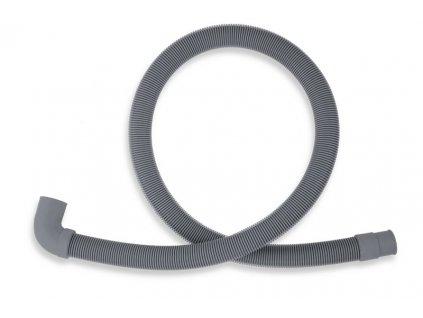 Novaservis Práčková vypúšťacia hadica s kolenom 100 cm šedá (Veľkosť 500 cm)