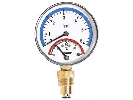 24990 2 novaservis termomanometer 80 mm 1 2 radialni 0 6bar
