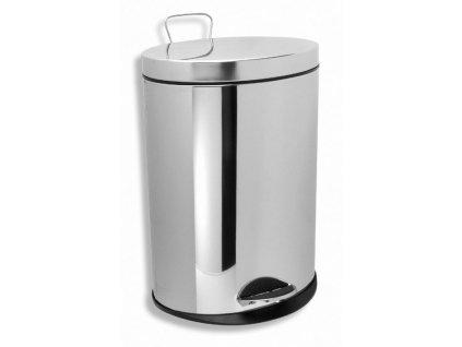 Novaservis Odpadkový kôš okrúhly 3 L chróm (Veľkosť 3L)