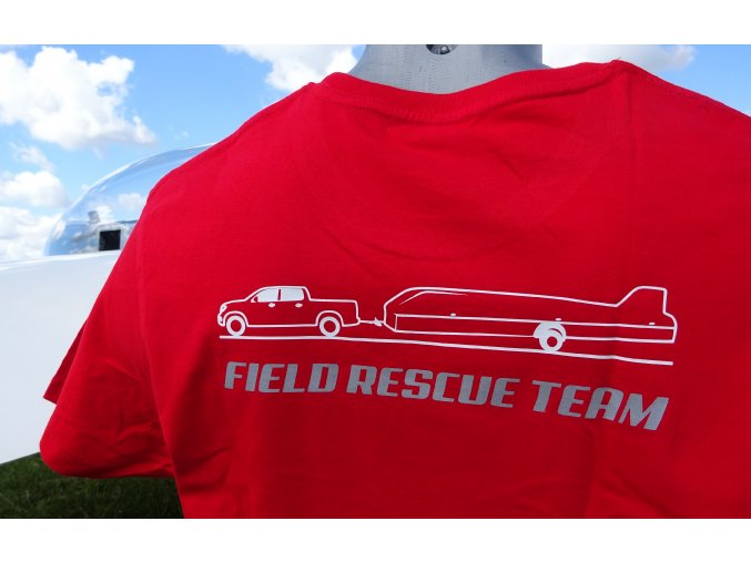 "Tričko ""Do pole"" - FIELD RESCUE TEAM - T-shirt designed for field landing"