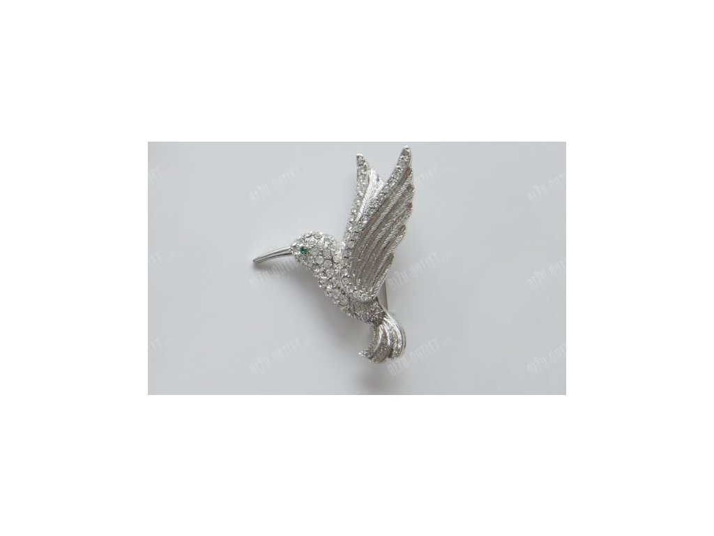 Brož pták vykládaný krystaly, Swarovski Elements