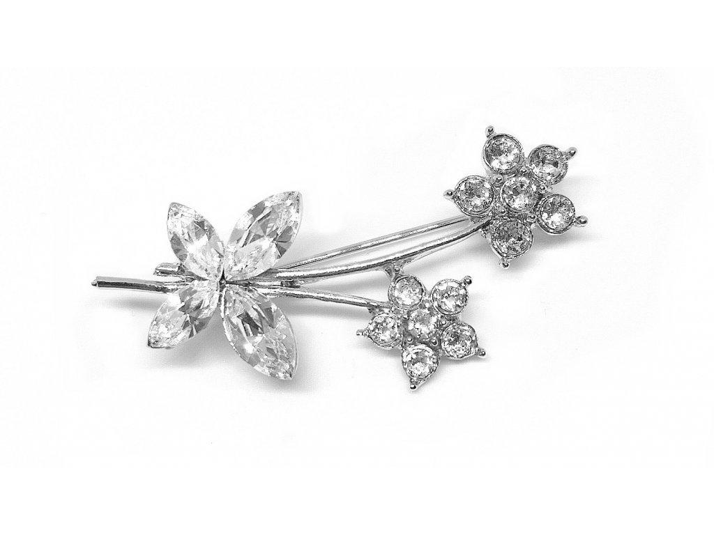 brož kytka swarovski crystals šperky glittersquare 55585503