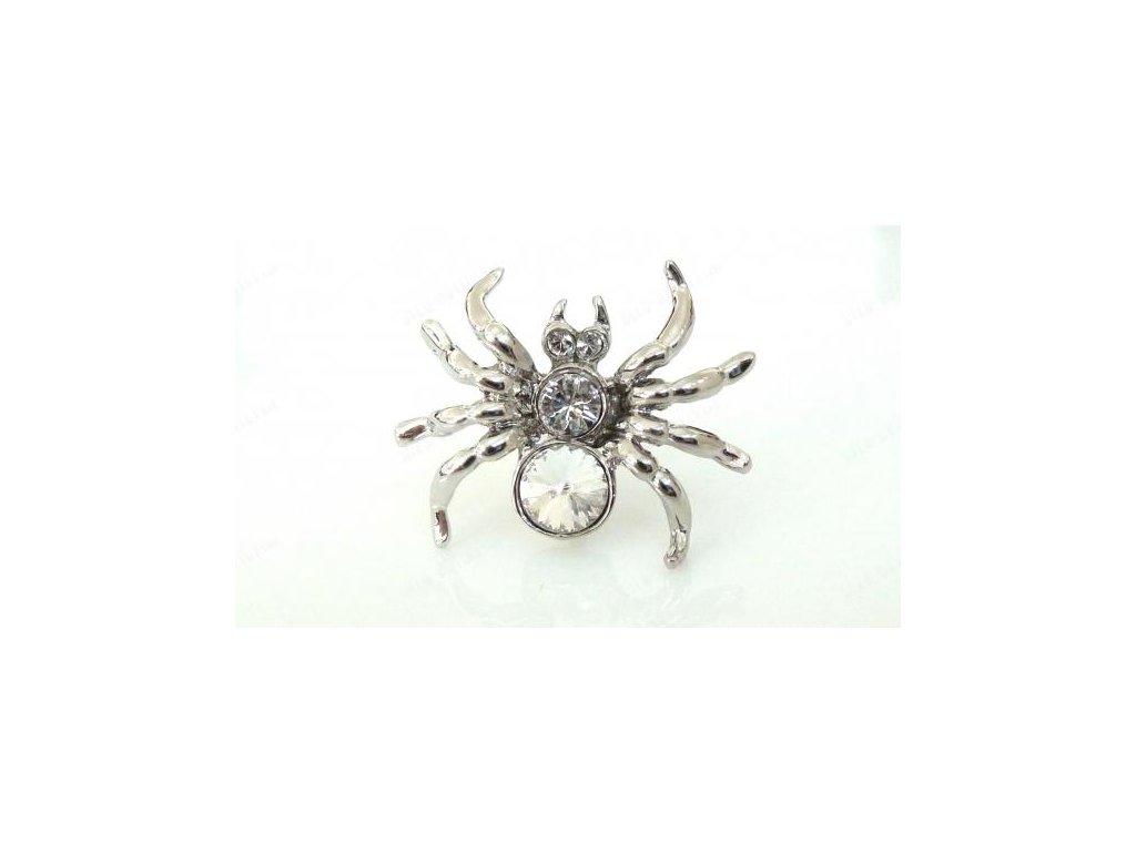 Brož pavouček, Swarovski Elements