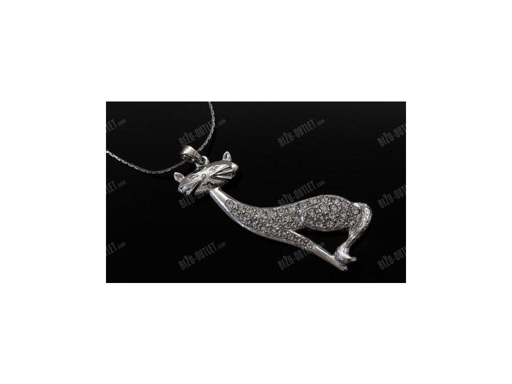 Náhrdelník kočička, Swarovski Elements
