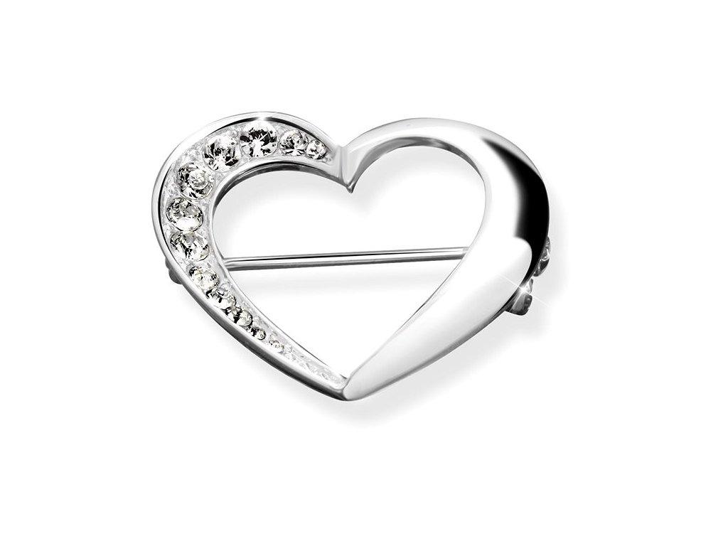 brož srdce vykladane krystaly swarovski crystals glittersquare šperky bižuterie