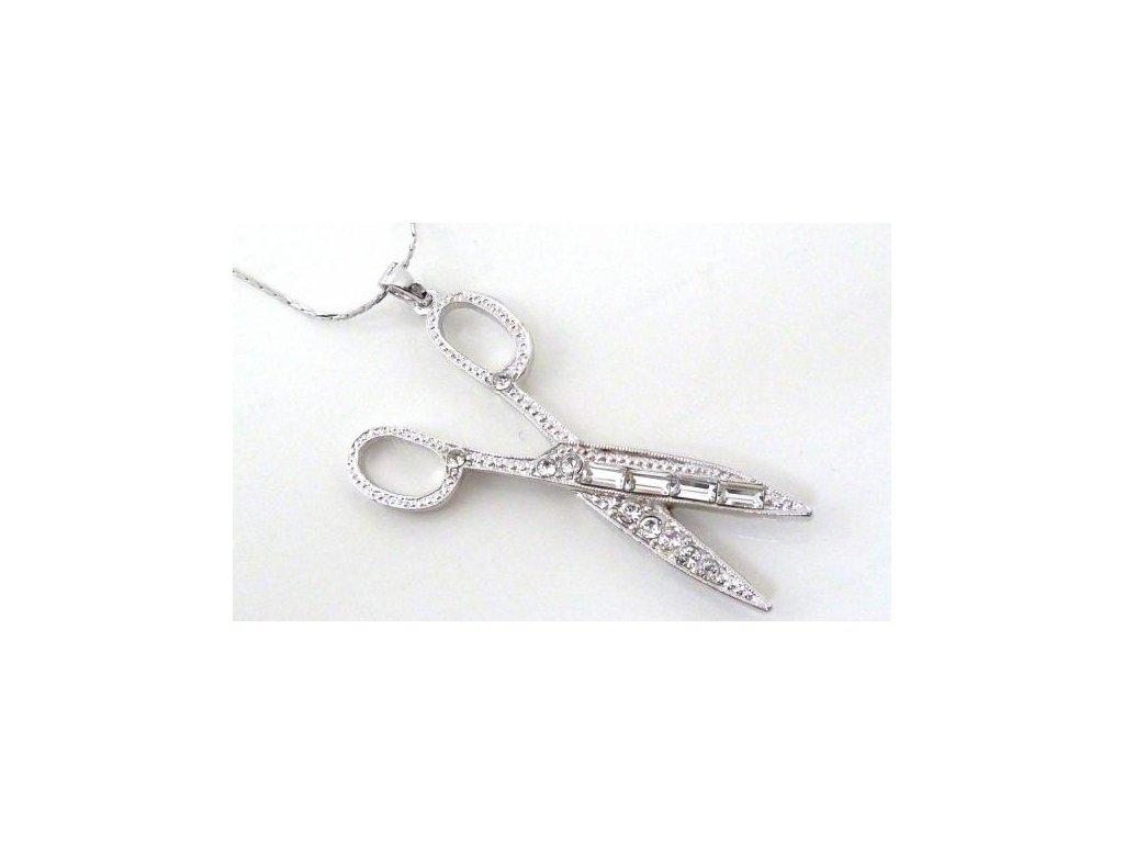 Náhrdelník krystalové nůžky, Swarovski Elements