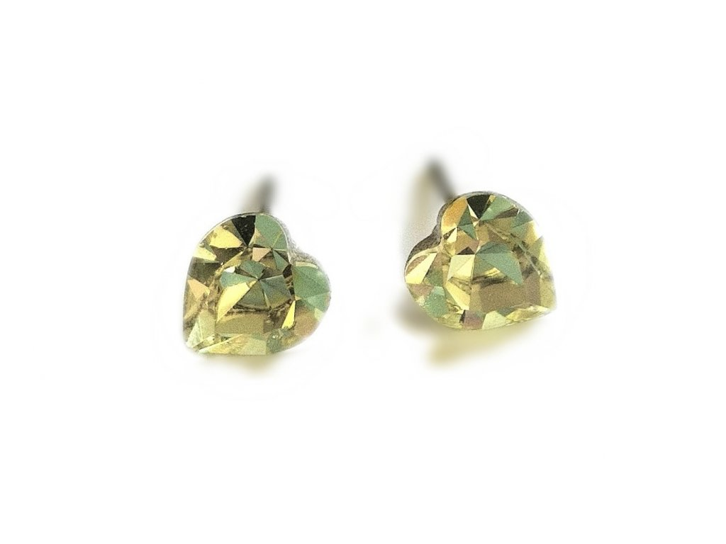 nausnicky srdicka swarovski crystals jonquill zlta sperky bizuterie glittersquare elements