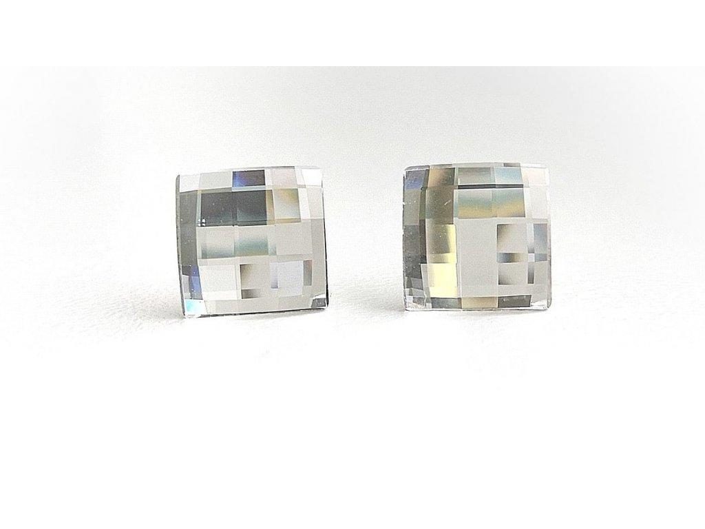 náušnice swarovski crystals čtverce crystal číry glittersquare šperky bižuterie