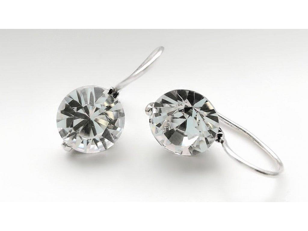 11401079 JSB BIJOUX nausnice saton AG 925/1000 Swarovski Crystals
