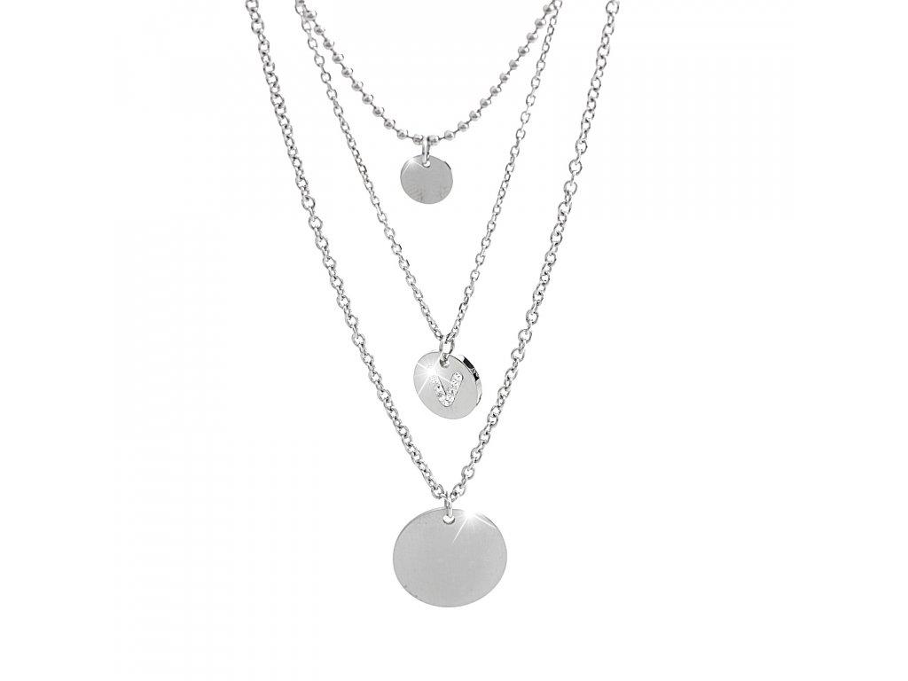 Náhrdelník medailony řetízky Swarovski crystals elements chirurgicka ocel sperky bizu outlet glittersqure