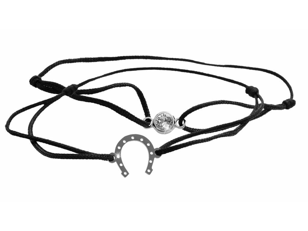 Souprava dvou náramků a podkovou a šatonu Swarovski Crystals šperky bizu outlet 61500769