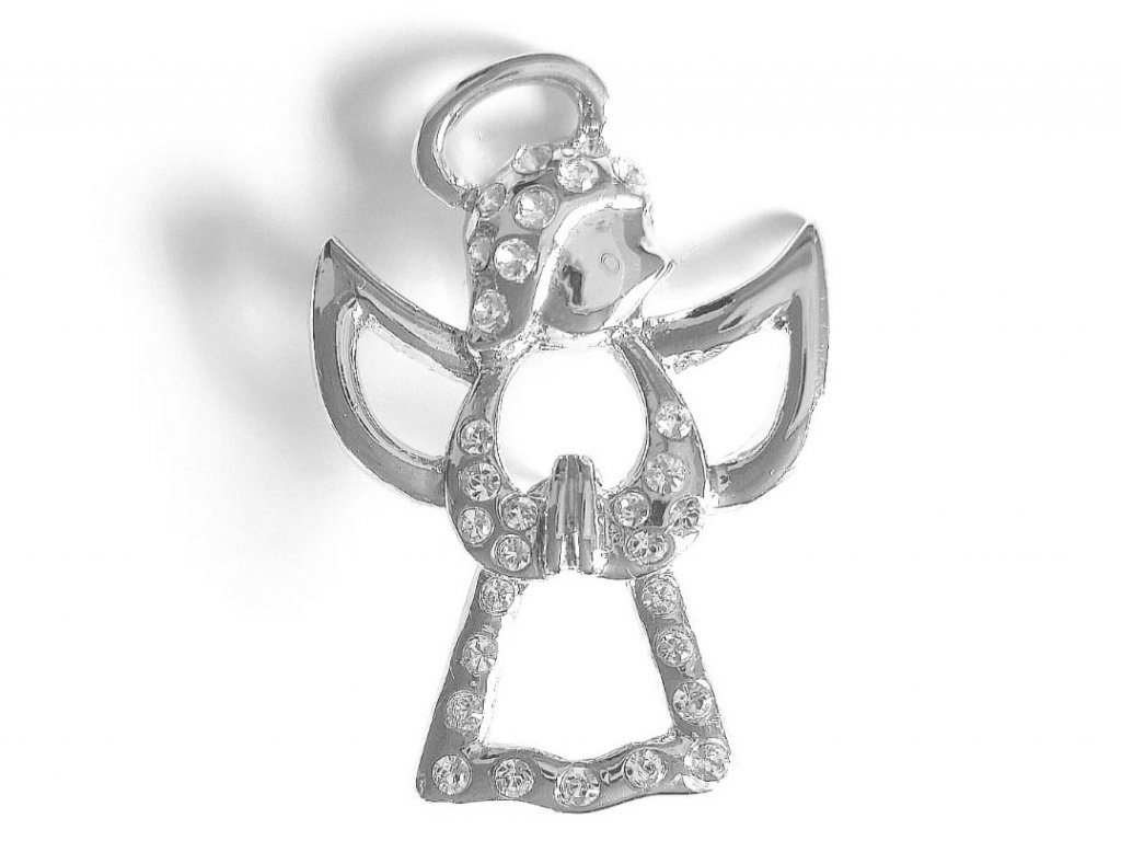 11600494 brož andílek swarovski crystal elements šperky bizu outlet glittersquare