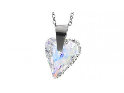 swarovski crystal šikmé srdíčko crystal ab náhradelník šperky bižuterie bizu outlet