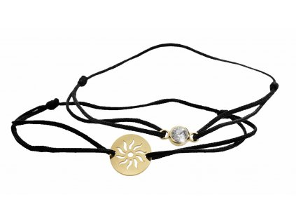 Souprava dvou náramků se sluncem a šatonu Swarovski Crystals šperky bižu outlet