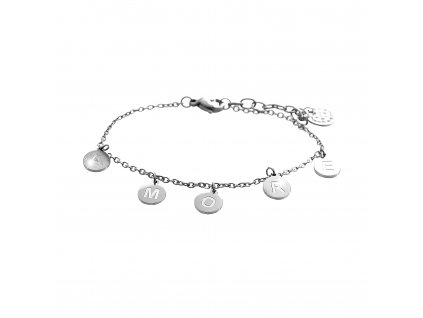 Náramek amore se Swarovski Crystals chirurgická ocel šperky bizu outlet glitter square