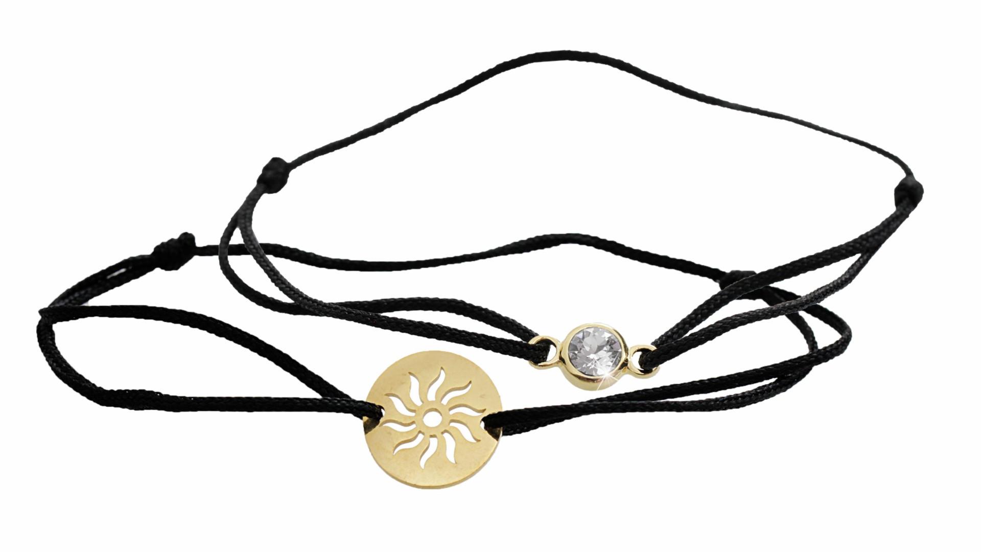 Souprava dvou náramků se sluncem a šatonem Swarovski Crystals krystaly šperky bižuterie bizu outlet
