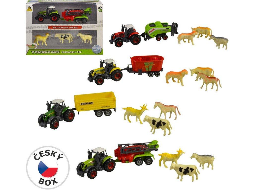 Sestava zemědělské techniky  se zvířátky