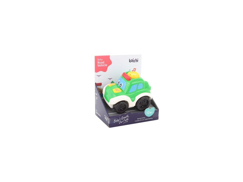 Baby zelené auto na baterie
