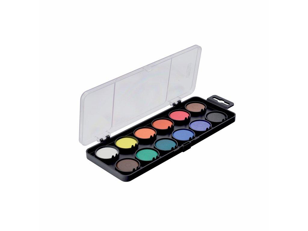 Koh-i-noor školní vodovky 12 barev černé