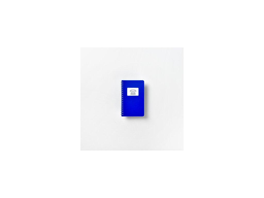 Telefonní zápisník modrý