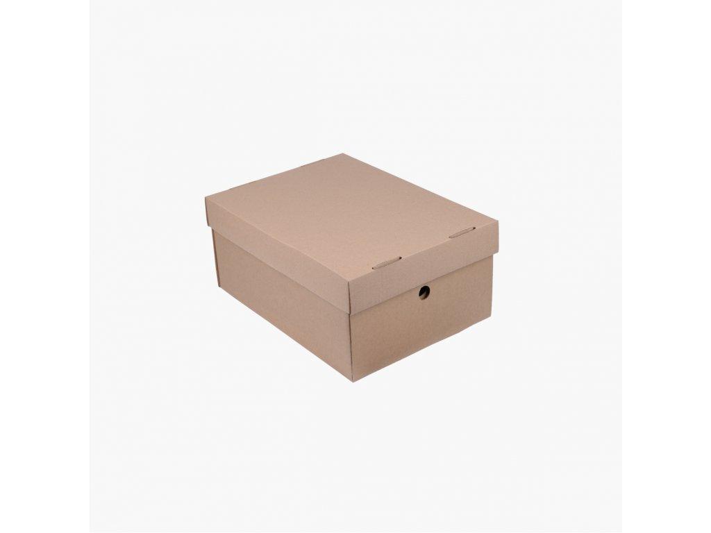 BOBO archivační papírová krabice A5 hnědá (2ks)