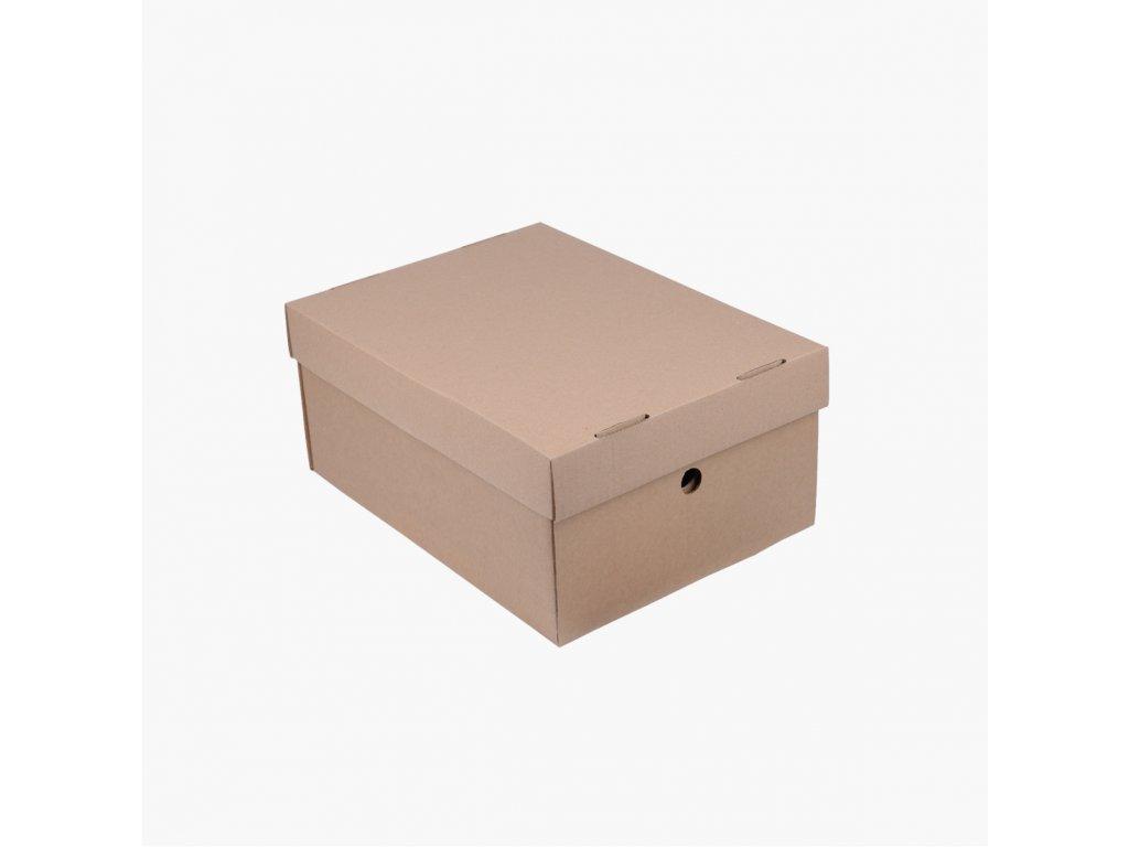 BOBO archivační papírová krabice A4 hnědá (2ks)