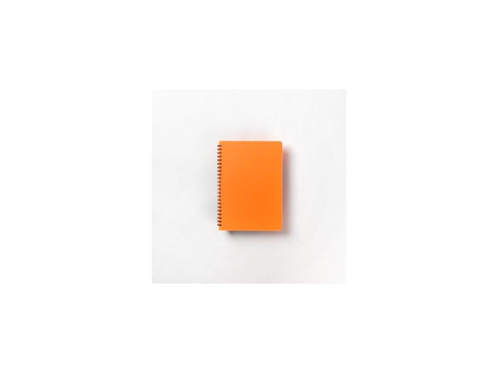 BOBO Plastic blok Neon A5 linkovaný oranžový