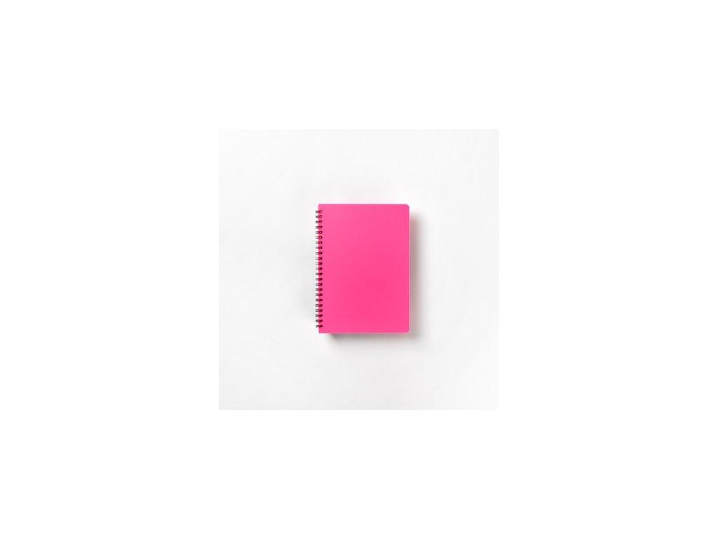 BOBO Plastic blok Neon A5 linkovaný růžový