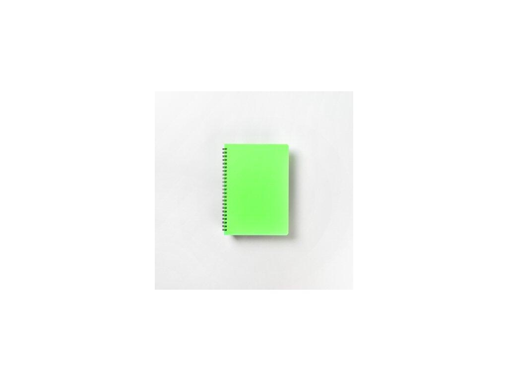 BOBO Plastic blok Neon A5 linkovaný zelený
