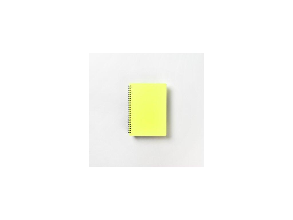 BOBO Plastic blok Neon A5 linkovaný žlutý