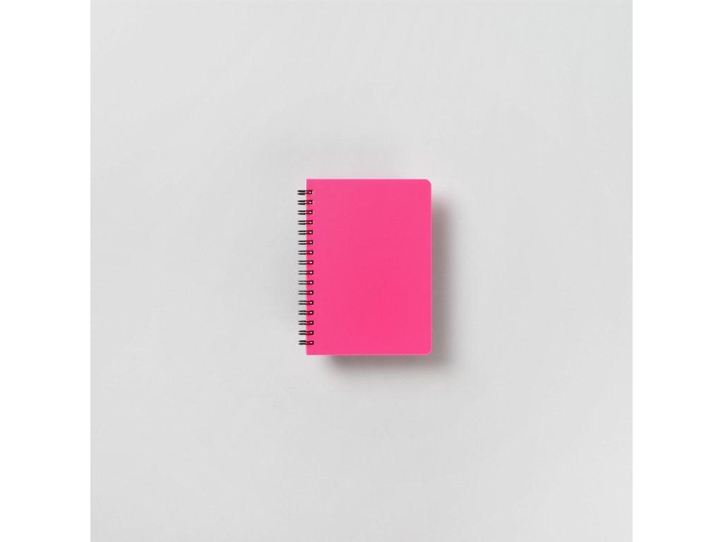 BOBO Plastic blok Neon A6 linkovaný růžový
