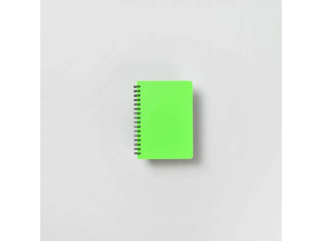 BOBO Plastic blok Neon A6 linkovaný zelený