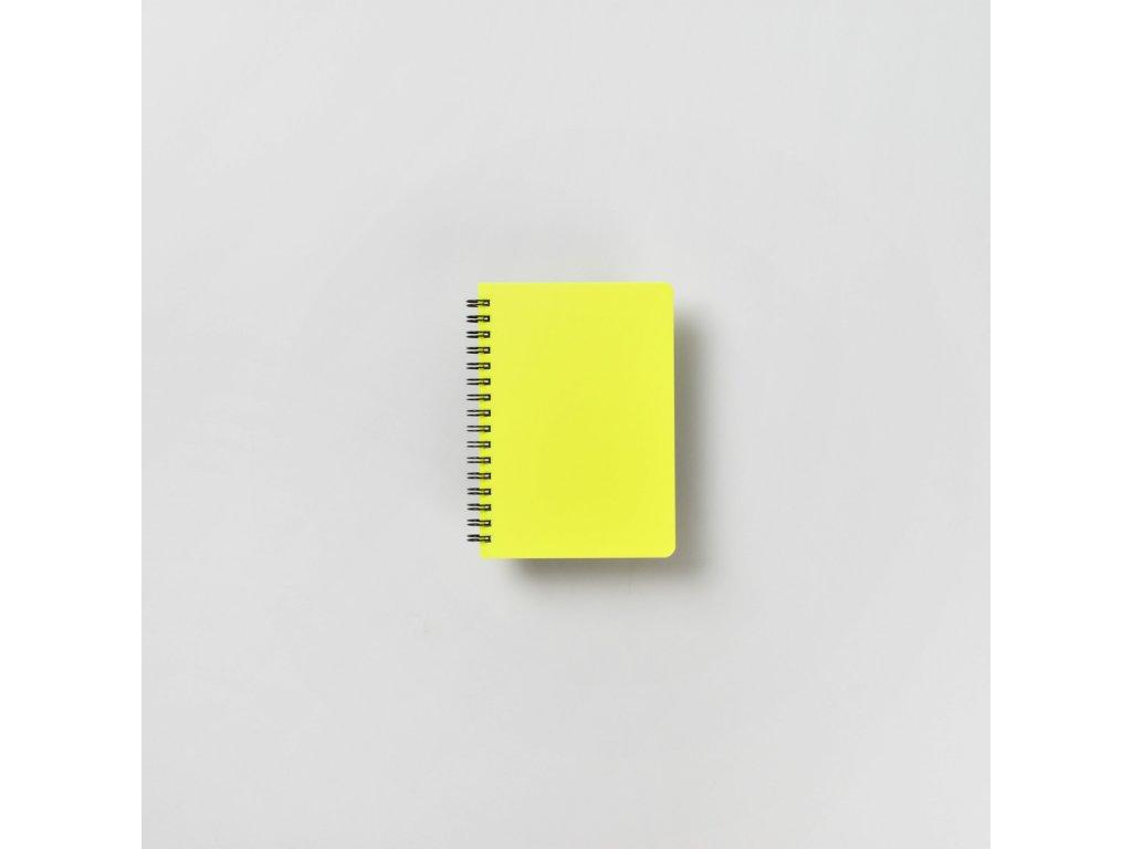 BOBO Plastic blok Neon A6 linkovaný žlutý