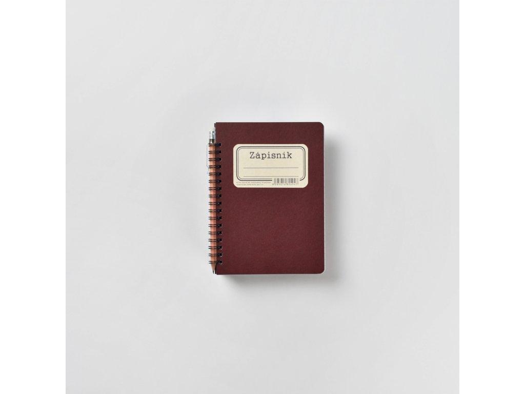 BOBO Zápisník s tužkou Retro B6 linkovaný