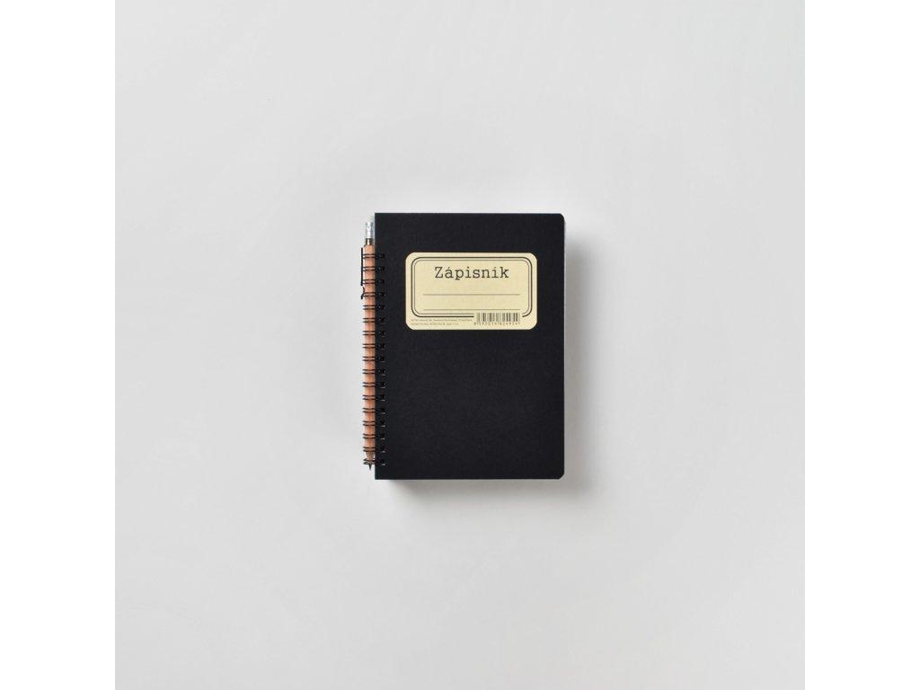 BOBO zápisník s tužkou Retro B6 čtverečkovaný