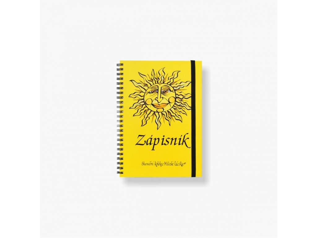 BOBO zápisník A5 linko-tečkovaný Sluneční kolekce Miloše Vacíka