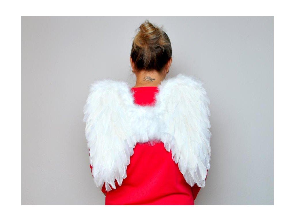 andělská křídla z peří 44x42cm 8885878