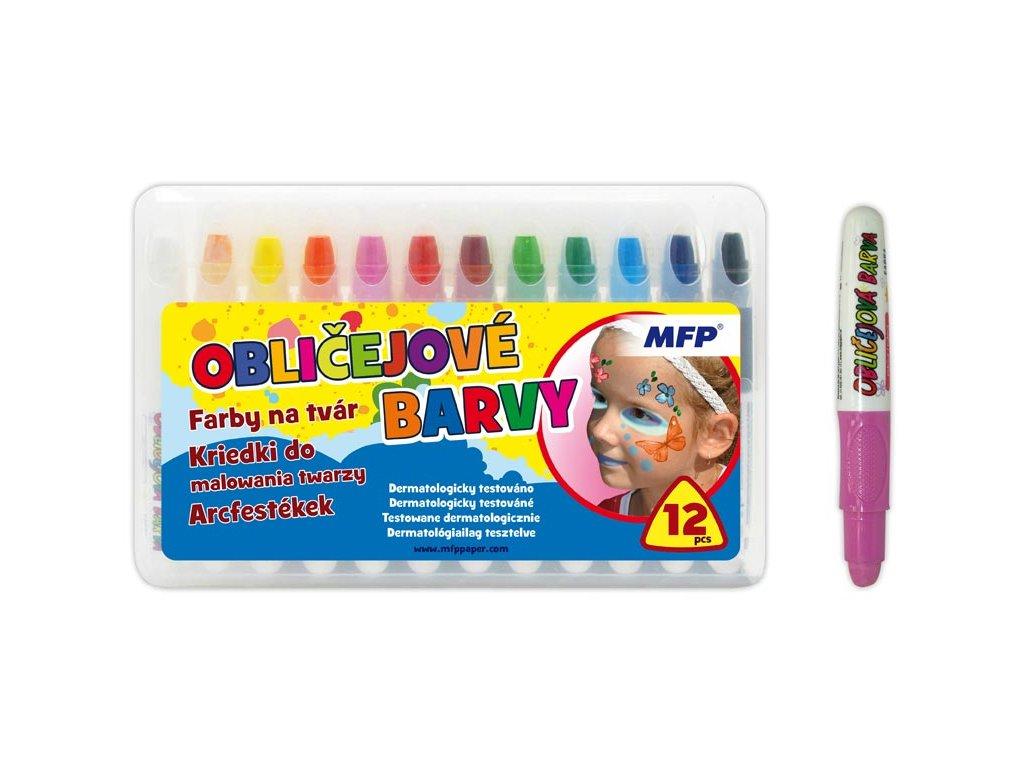 barvy na obličej 12ks set 6330539
