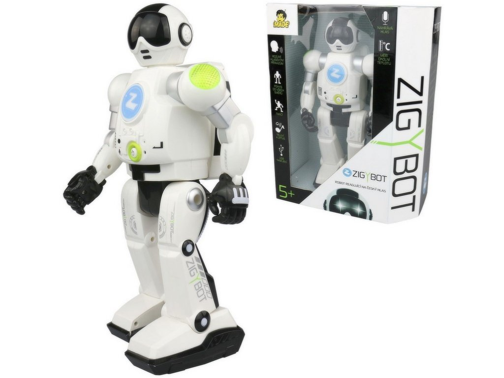 Robot Zigybot 2018 s funkcí času, 20 funkcí