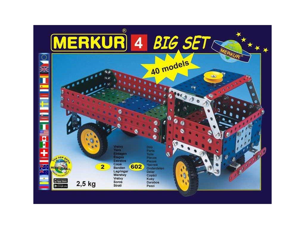 Merkur 4 stavebnice, 602 dílů, 40 modelů