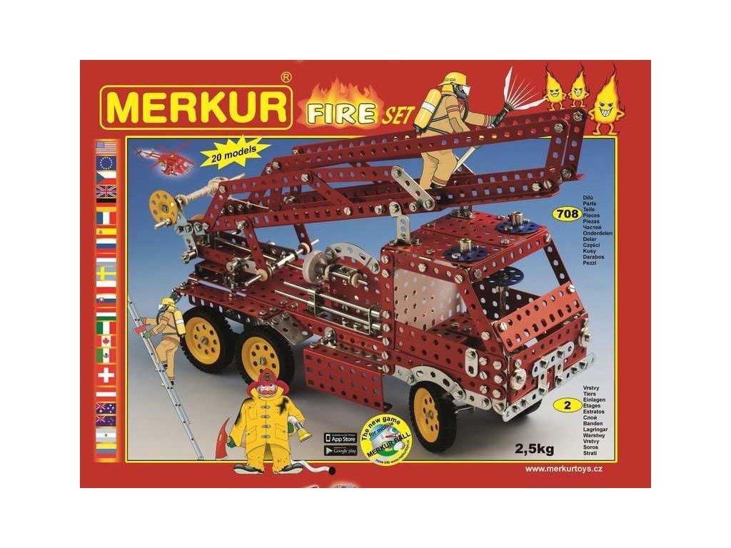 Merkur Fire Set, 708 dílů, 20 modelů
