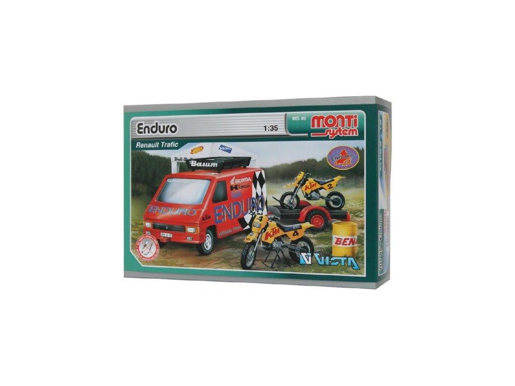 Stavebnice Monti 49 Enduro Renault Trafic 1:35