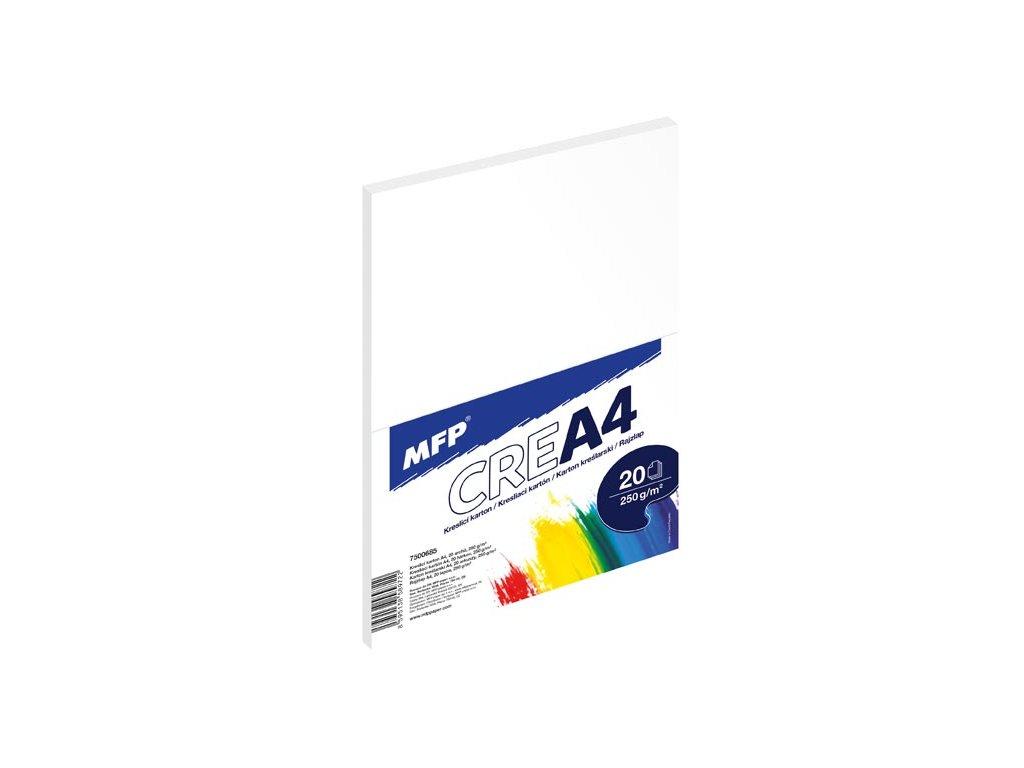 kreslící karton A4 20 listů 250g 7500685