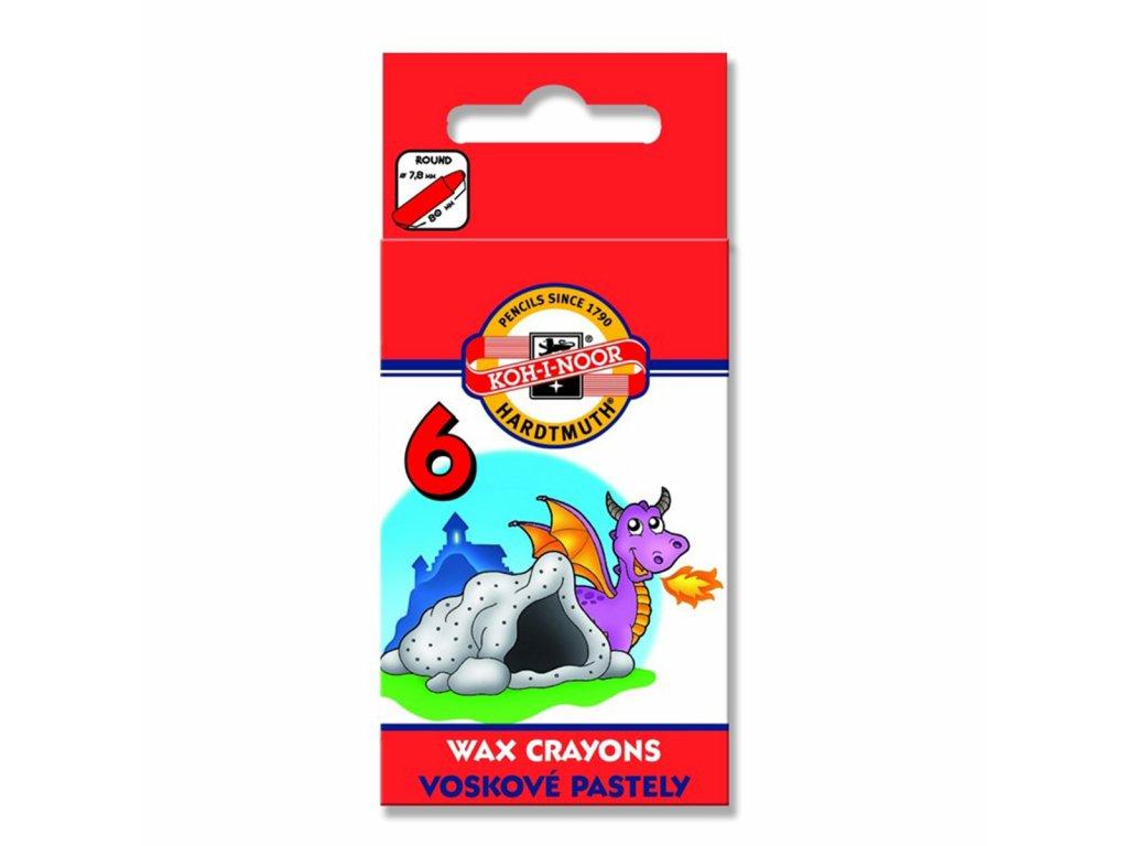Koh-i-noor voskovky 8231 WAX PASTEL 6ks
