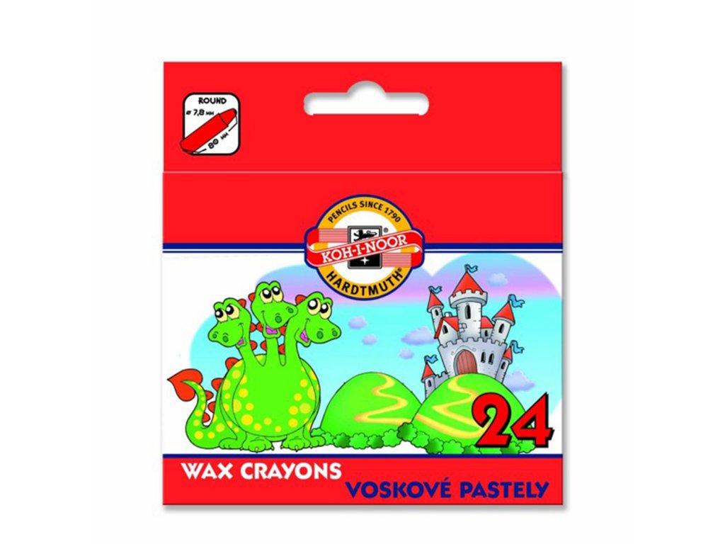 Koh-i-noor voskovky 8234 WAX PASTEL 24ks