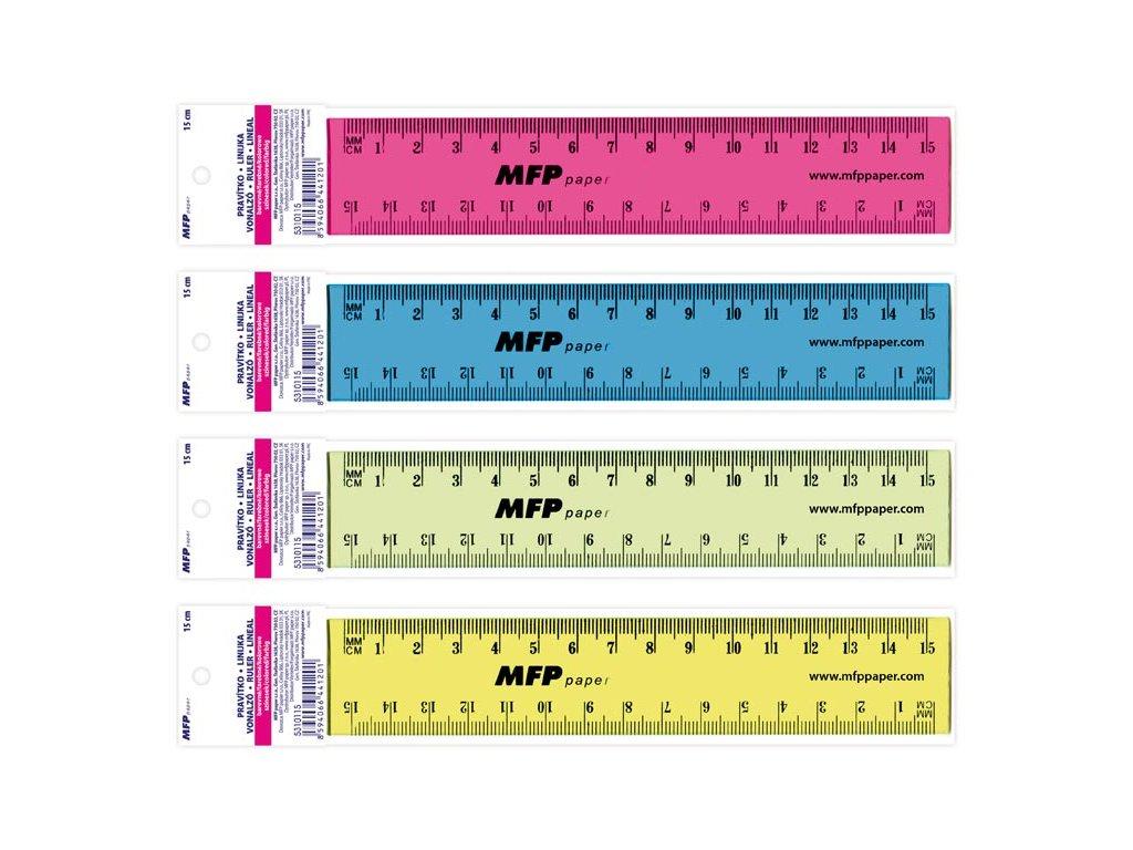 pravítko 150 mm COLOURS 5310115